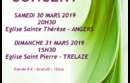 Choraline en concert les 30 et 31 mars
